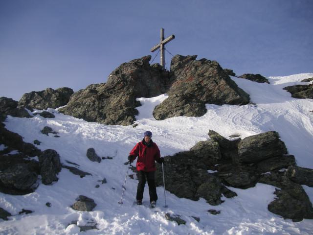 Foto: Wolfgang Lauschensky / Skitour / Rastkogel, 2761m / Rastkogel Gipfelfels / 15.01.2012 17:50:49