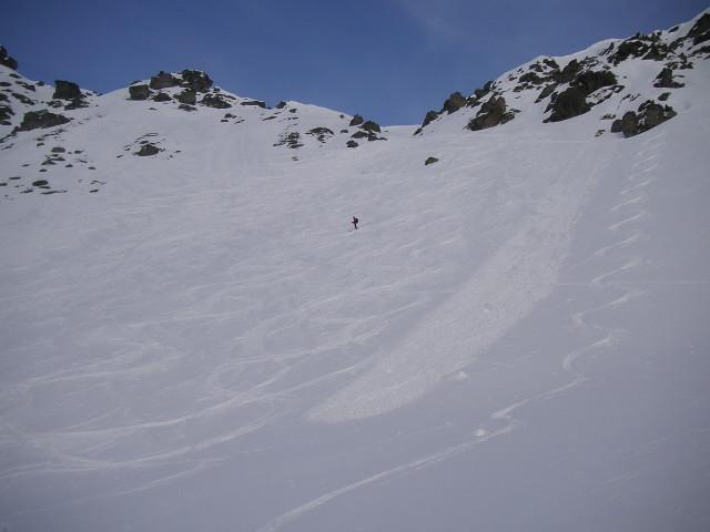 Foto: Wolfgang Lauschensky / Skitour / Rastkogel, 2761m / Abfahrt in das Südkar / 15.01.2012 17:50:18