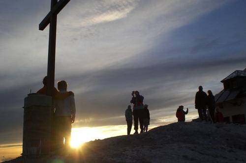 Foto: bymike / Ski Tour / Hochkönig, 2941m - über Mitterfeldalm / Gipfelglück / 10.08.2008 19:52:33