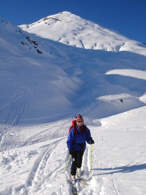 Foto: Manfred Karl / Ski Tour / Imbachhorn, 2470m / Gegenanstieg / 21.12.2008 16:44:05