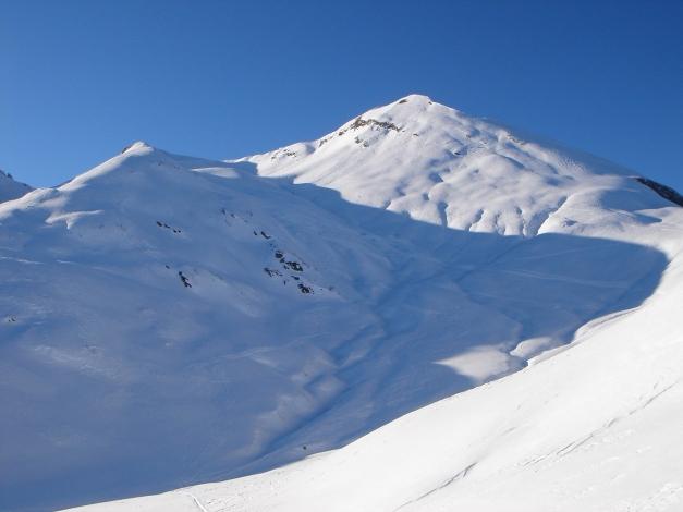 Foto: Manfred Karl / Ski Tour / Imbachhorn, 2470m / Rückblick zum Imbachhorn / 21.12.2008 16:43:43