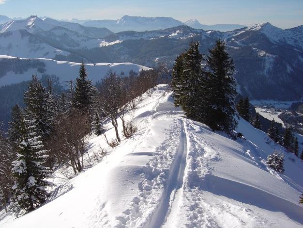 Foto: Manfred Karl / Ski Tour / Königsberghorn, 1621m / Die letzten Meter führen über einen schönen Grat zum Gipfel / 19.12.2008 17:32:10