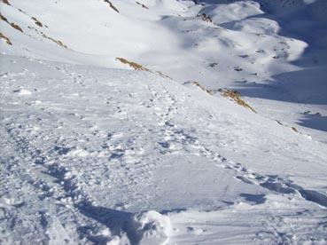 Foto: Datzberger Hans / Ski Tour / Regenkarspitz, 2112m / Vom Schidepot unterhalb des Gipfel Einfahrt in Gipfelrinne / 14.01.2008 12:27:20