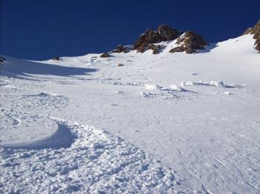 Foto: Datzberger Hans / Ski Tour / Regenkarspitz, 2112m / Die steile Gipfelrinne (Pulverschnee) / 14.01.2008 12:26:34