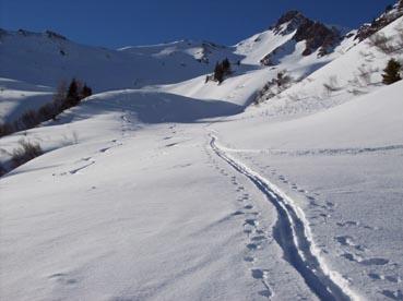 Foto: Datzberger Hans / Ski Tour / Regenkarspitz, 2112m / Regenkar Aufstiegsspur und Abfahrt (Pulverschnee) / 14.01.2008 12:23:39