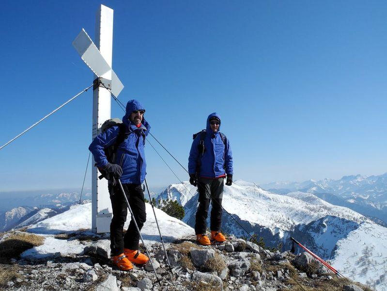 Foto: Walter Bröderbauer / Ski Tour / Hochsengs, 1838m / Gipfel des Hochsengs / 18.01.2013 20:53:48