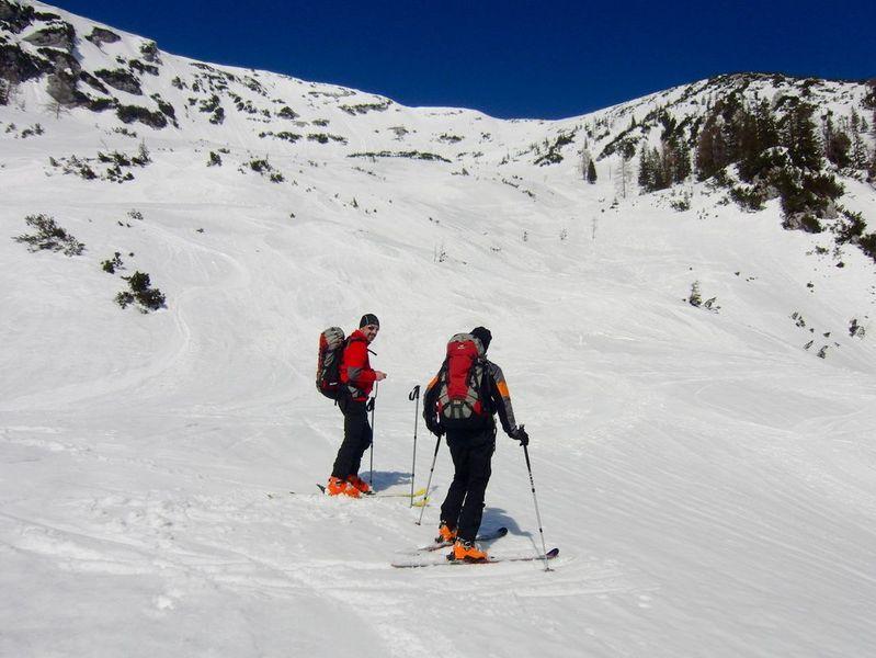 Foto: Walter Bröderbauer / Ski Tour / Hochsengs, 1838m / Abfahrt - Blick zurück / 18.01.2013 20:54:22