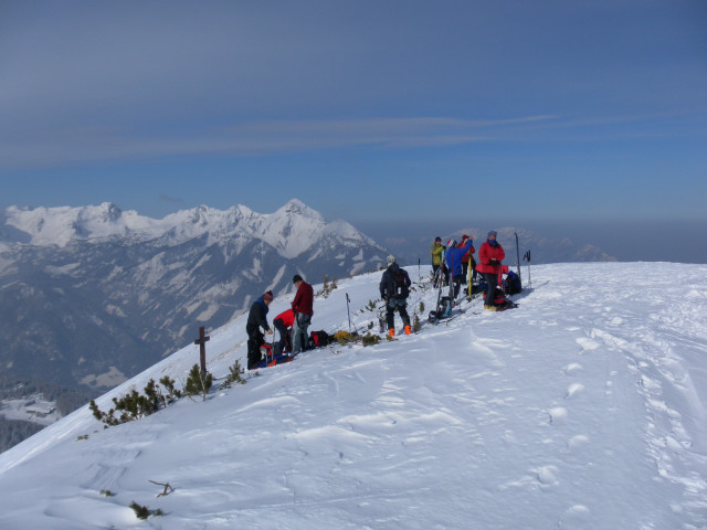 Foto: Wolfgang Lauschensky / Skitour / Wilde, 1719m -  über Wartegg / Wilde vor Kleinem Priel / 14.02.2012 22:07:55