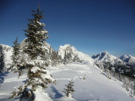 Foto: Karl Pacher / Ski Tour / Lahngangkogel, 1778m / Blick vom Kogel nach Osten / 11.02.2013 09:16:18