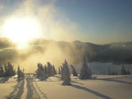 Foto: Karl Pacher / Ski Tour / Lahngangkogel, 1778m / Blick vom Kogel Richtung Süden / 11.02.2013 09:06:35