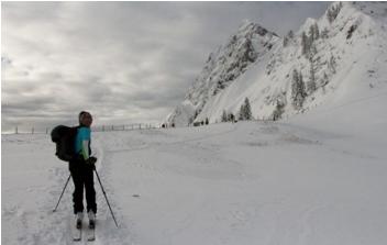 Foto: Runruka / Ski Tour / Arlingsattel, 1425m / Kurz vorm Sattel. / 06.01.2015 19:34:26