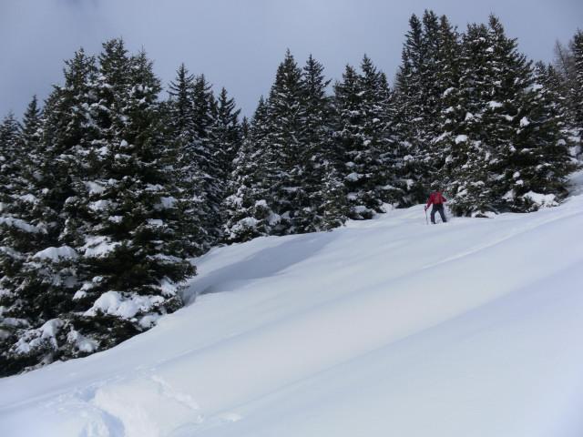 Foto: Wolfgang Lauschensky / Ski Tour / Pfoner Kreuzjöchl, 2640m / unter dem Wetterkreuz / 12.02.2013 17:47:51