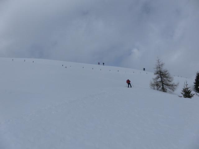 Foto: Wolfgang Lauschensky / Ski Tour / Pfoner Kreuzjöchl, 2640m / freie Almflächen / 12.02.2013 17:47:23