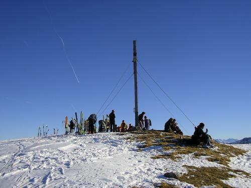 Foto: isi / Ski Tour / Galtjoch, 2109m / der oft übervölkerte Gipfel des Galtjoch  / 10.01.2008 13:38:43