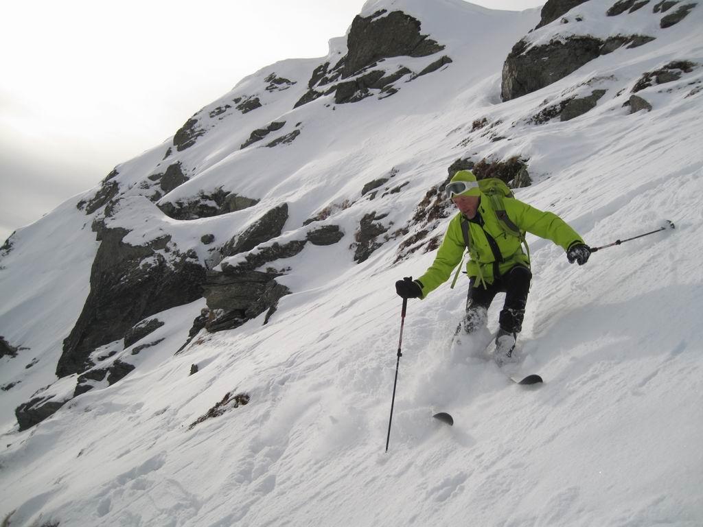 Foto: Heidi Schützinger / Skitour / Gamshag, 2178m / Tolle Abfahrt bei Pulver auf harter Unterlage / 07.01.2011 13:10:21