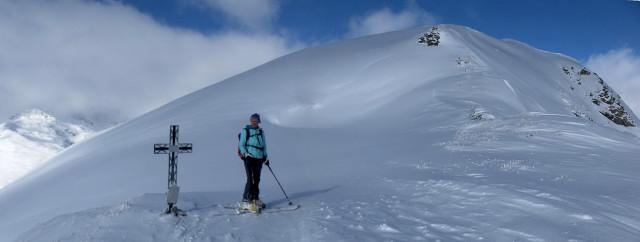 Foto: Wolfgang Lauschensky / Ski Tour / Baumgartgeier, 2392m, und Ronachgeier, 2236m / Gipfelkuppe des Baumgartgeiers / 04.02.2014 20:35:39