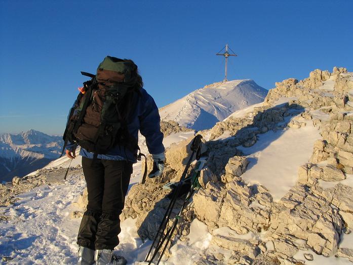 Foto: Andreas Koller / Ski Tour / Dürrenstein, 2839m - von Außerprags / 24.12.2008 13:49:31