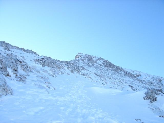 Foto: Weber Roland / Ski Tour / Watzmann - Hocheck, 2651m - über die Gugel / Aufstiegsroute auf's Hocheck über das Watzmannhaus / 06.01.2009 15:17:44