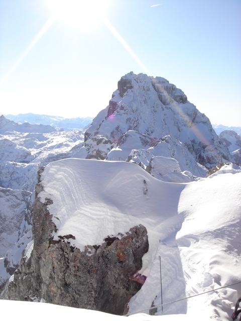 Foto: Weber Roland / Ski Tour / Watzmann - Hocheck, 2651m - über die Gugel / Sicht vom Hocheck auf den Watzmann / 06.01.2009 15:11:50
