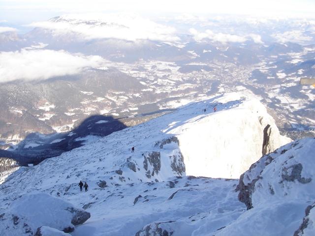 Foto: Weber Roland / Ski Tour / Watzmann - Hocheck, 2651m - über die Gugel / Abstieg vom Hocheck / 06.01.2009 15:13:35