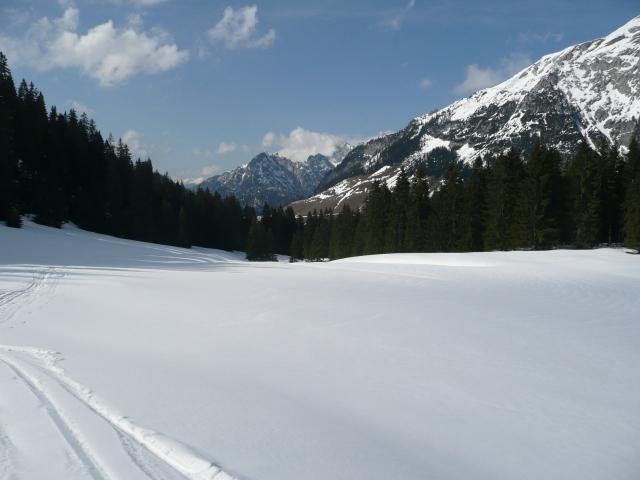 Foto: Manfred Karl / Skitour / Seehorn, 2320m / Flacher Boden kurz vor der Kallbrunnalm / 27.01.2009 22:08:51