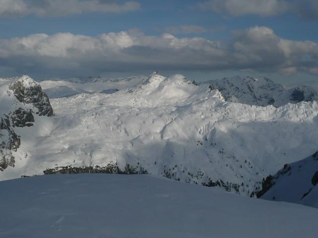 Foto: Manfred Karl / Skitour / Seehorn, 2320m / Blick ins Steinerne Meer gegen den Schindlkopf / 27.01.2009 22:02:25