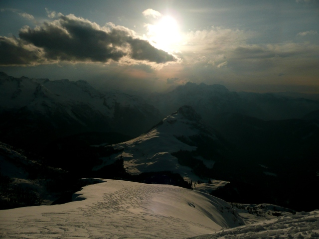 Foto: Manfred Karl / Skitour / Seehorn, 2320m / Gipfelhang / 27.01.2009 22:00:13