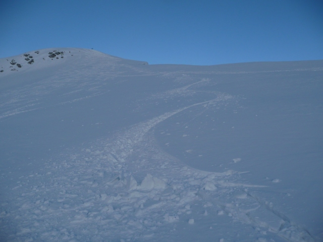 Foto: Manfred Karl / Skitour / Seehorn, 2320m / Gipfelhang im letzten Abendlicht / 27.01.2009 21:59:32