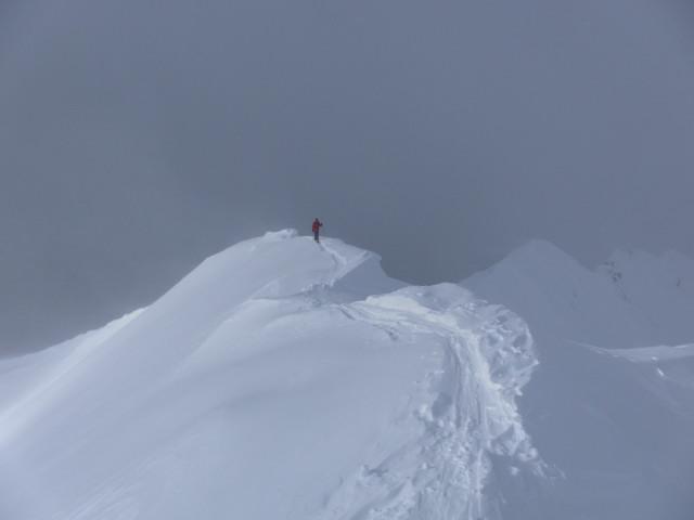 Foto: Wolfgang Lauschensky / Skitour / Naviser Kreuzjöchl (2536m) / am Wechtengrat / 12.02.2013 17:28:12