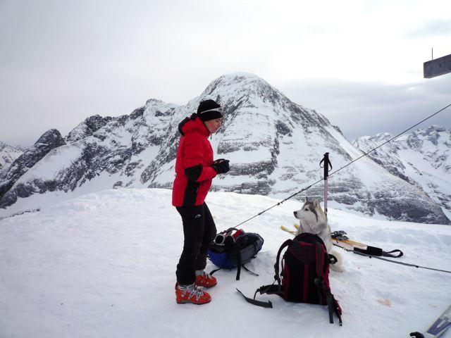 Foto: Thomas Höllwarth / Ski Tour / Torhelm (2452m) / Am Gipfel des Torhelm / 28.02.2009 22:05:18