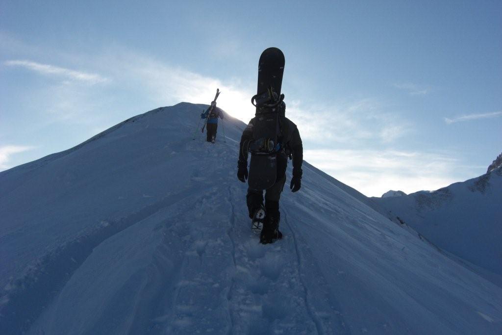 Foto: Andreas Steiner / Skitour / Grüblspitze, 2395m / Aufstieg über den Grat zum Gipfel / 07.02.2009 09:47:54