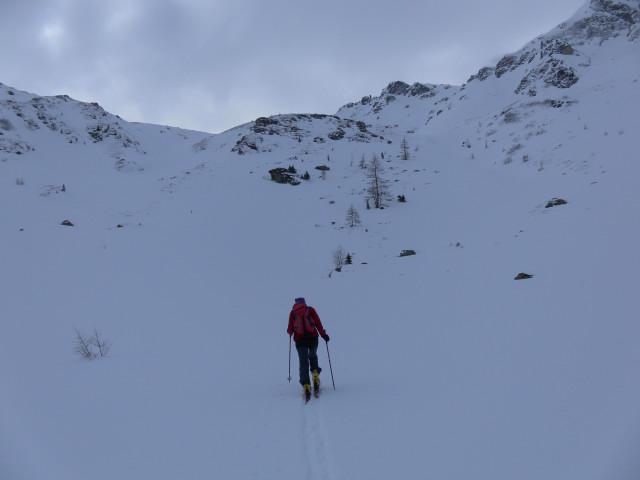 Foto: Wolfgang Lauschensky / Ski Tour / Wasserfallspitze, 2507m  / Steilstufe Herzmaierkar / 01.02.2012 17:56:44