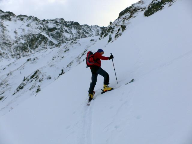 Foto: Wolfgang Lauschensky / Ski Tour / Wasserfallspitze, 2507m  / in der Steilstufe des Herzmaierkars / 01.02.2012 17:56:30