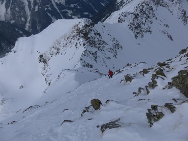 Foto: Wolfgang Lauschensky / Ski Tour / Wasserfallspitze, 2507m  / Westgratabstieg / 01.02.2012 17:54:30