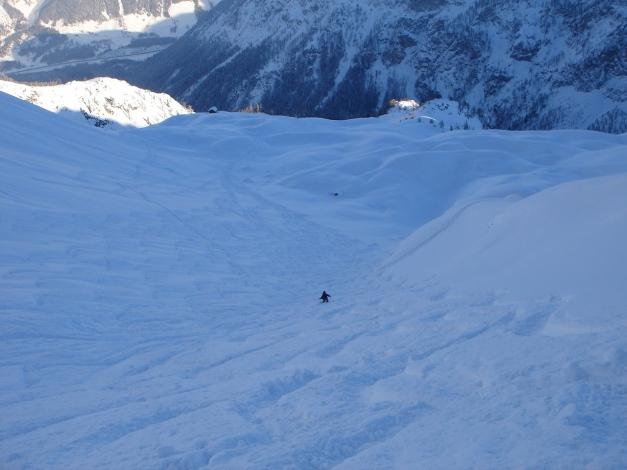 Foto: Manfred Karl / Ski Tour / Liebeseck, 2303m / Der phantastische Schartenhang, meist liegt hier guter Pulver / 24.12.2008 06:00:16