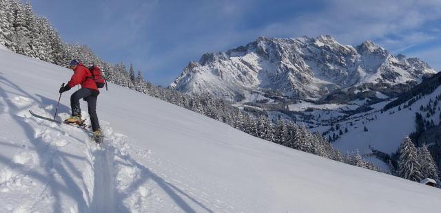 Foto: Wolfgang Lauschensky / Ski Tour / Grinnköpfl (1707m) / sanfte Hänge vor Hochkönig / 18.12.2011 20:58:18