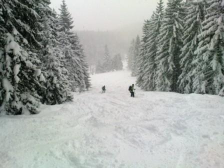 Foto: Hupo / Ski Tour / Kreuzschober (1410m)  / Abfahrt vom Gipfel des Kreuzschober / 06.01.2010 10:25:52