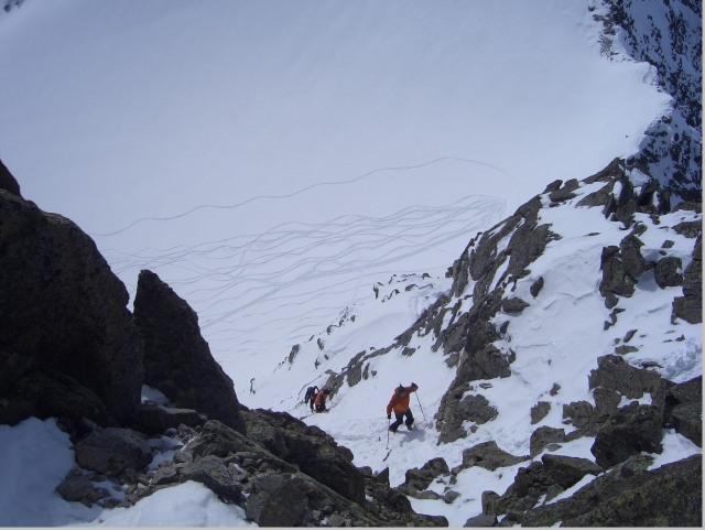 Foto: gre weg / Ski Tour / Lisenser Fernerkogel, 3298m / Leichte Blockkletterei am Gipfelgrad / 23.04.2008 08:23:36