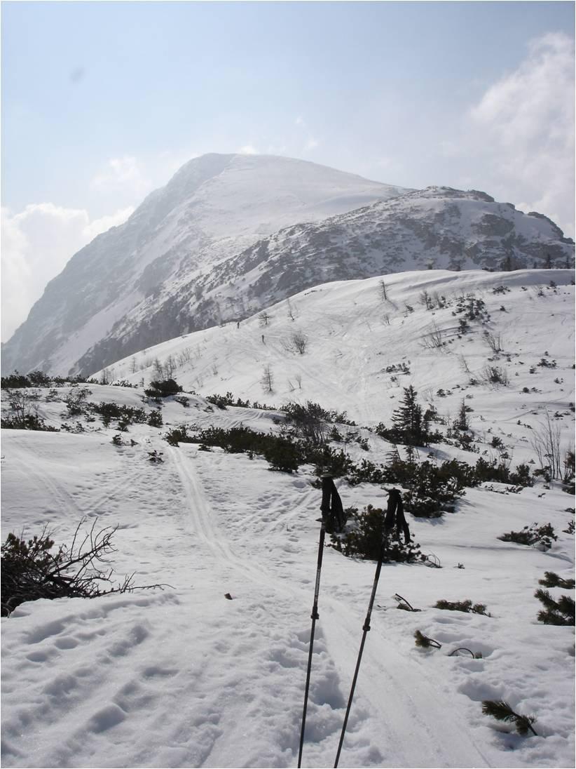 Foto: gumpiand / Skitour / Schneibstein, 2276m - Kleine Reibn / Blick vom Schneibsteinhaus zum Gipfel / 10.10.2009 09:24:20