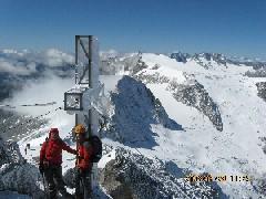 Foto: mucho / Ski Tour / Großer Löffler, 3379m / im Hintergrund Schwarzenstein / 26.08.2008 12:26:13