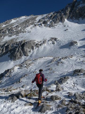 Foto: Wolfgang Lauschensky / Ski Tour / Hintere Goinger Halt, 2192m / Anstieg zur Hinteren Goinger Halt aus dem Ellmauer Tor / 12.01.2011 18:39:01
