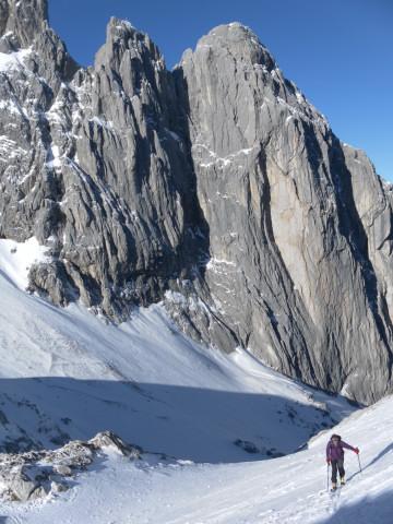 Foto: Wolfgang Lauschensky / Ski Tour / Hintere Goinger Halt, 2192m / Fleischbank / 12.01.2011 18:38:43