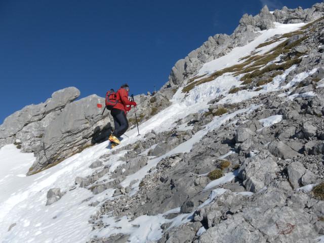 Foto: Wolfgang Lauschensky / Ski Tour / Hintere Goinger Halt, 2192m / am Normalweg zum Gipfel / 12.01.2011 18:38:32