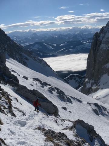 Foto: Wolfgang Lauschensky / Ski Tour / Hintere Goinger Halt, 2192m / beim Skidepot / 12.01.2011 18:37:48