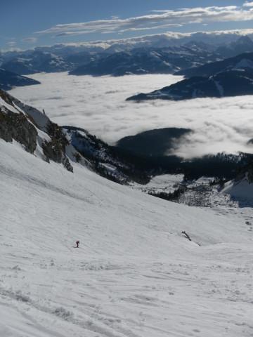 Foto: Wolfgang Lauschensky / Ski Tour / Hintere Goinger Halt, 2192m / Firnabfahrt zur Wochenbrunner Alm / 12.01.2011 18:37:29
