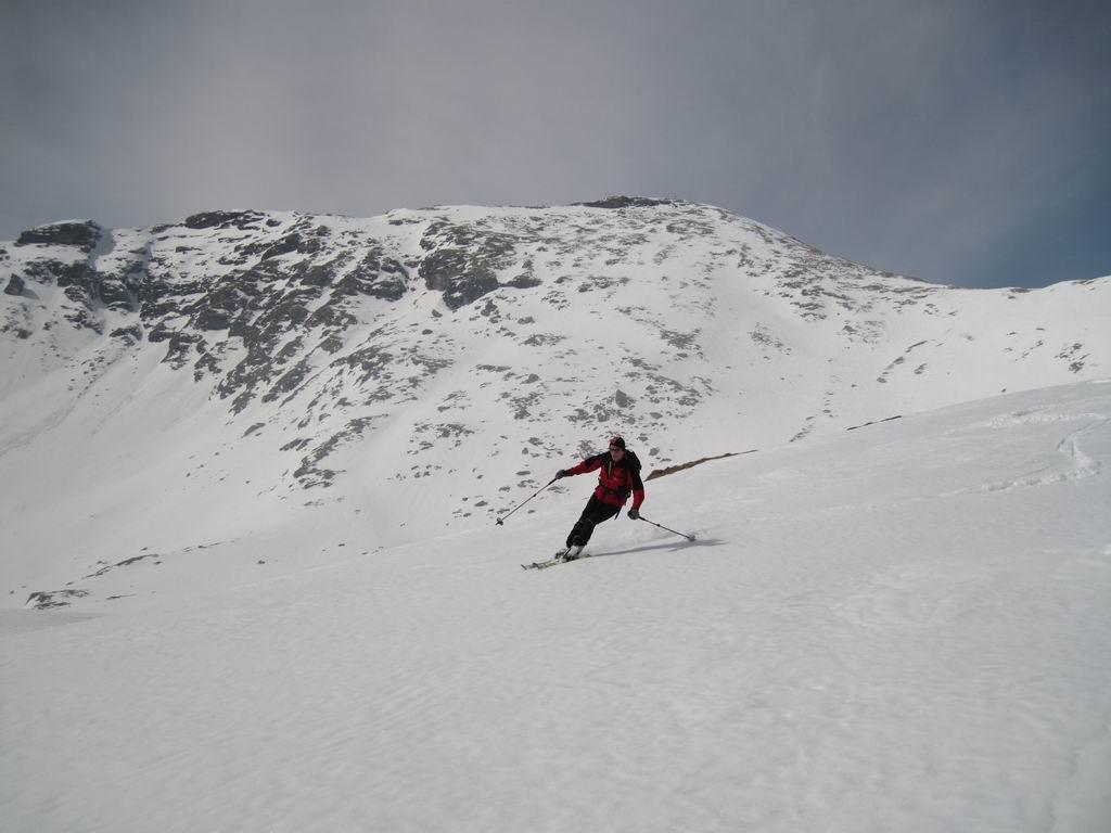 Foto: Heidi Schützinger / Ski Tour / Reitereck, 2790m / Blick auf die steile Gipfelflanke des Reiterecks. / 21.03.2010 09:44:24