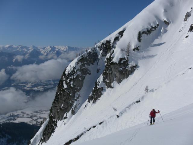 Foto: Wolfgang Lauschensky / Ski Tour / Scheichenspitze - Gruberkar / steiler Zustieg zum Gruberkar / 22.03.2012 16:46:40