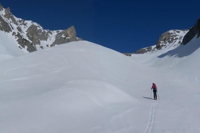 Foto: Wolfgang Lauschensky / Ski Tour / Scheichenspitze - Gruberkar / Gruberkar und Hohe Rams links / 22.03.2012 16:46:30