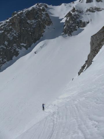 Foto: Wolfgang Lauschensky / Ski Tour / Scheichenspitze - Gruberkar / Querung im oberen Gruberkar / 22.03.2012 16:46:11