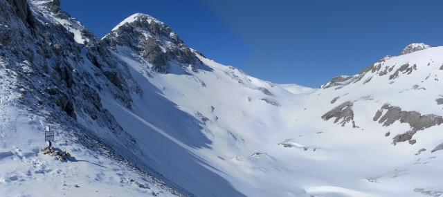 Foto: Wolfgang Lauschensky / Ski Tour / Scheichenspitze - Gruberkar / Gruberscharte, Landfriedtal und Scheichenspitze links / 22.03.2012 16:45:36